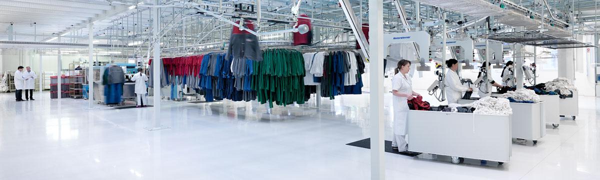 Innenansicht Produktioshalle Staufer Textil © DBL Staufer