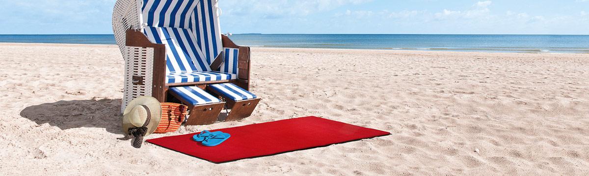 Strandkorb mit Fussmatte © DBL Staufer